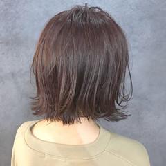 ガーリー ブリーチ無し ボブ ラベンダー ヘアスタイルや髪型の写真・画像