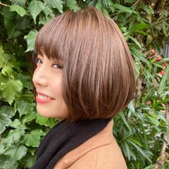 大人可愛い レイヤーボブ ナチュラル ミニボブ ヘアスタイルや髪型の写真・画像