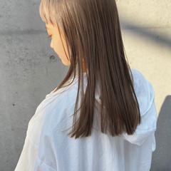 髪質改善トリートメント ミディアム 大人ミディアム ガーリー ヘアスタイルや髪型の写真・画像