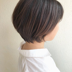 ショートヘア ショートボブ モテボブ ナチュラル ヘアスタイルや髪型の写真・画像
