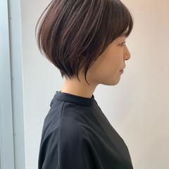 ショート ベリーショート ショートボブ エレガント ヘアスタイルや髪型の写真・画像