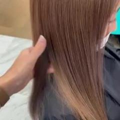 ベージュ 大人ハイライト ハイライト ミルクティーベージュ ヘアスタイルや髪型の写真・画像