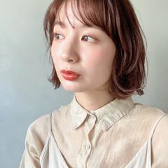 大人かわいい ゆるふわパーマ ミディアム アンニュイほつれヘア ヘアスタイルや髪型の写真・画像