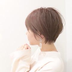 ショートボブ フェミニン ショート マッシュショート ヘアスタイルや髪型の写真・画像