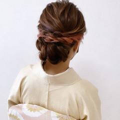 結婚式ヘアアレンジ ロング 和装ヘア エレガント ヘアスタイルや髪型の写真・画像