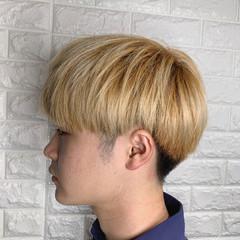 メンズカット 韓国ヘア ショート マッシュ ヘアスタイルや髪型の写真・画像