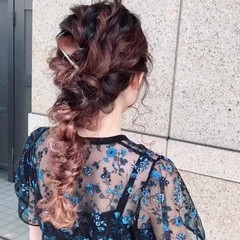ふわふわヘアアレンジ デート 結婚式ヘアアレンジ ロング ヘアスタイルや髪型の写真・画像