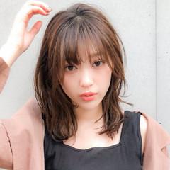デジタルパーマ ゆるふわパーマ デート セミロング ヘアスタイルや髪型の写真・画像