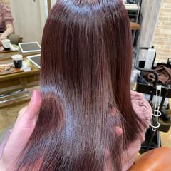 ナチュラル ショコラブラウン ミディアム ナチュラルブラウンカラー ヘアスタイルや髪型の写真・画像