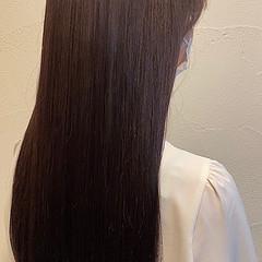 上品 バイオレットカラー ナチュラル 艶髪 ヘアスタイルや髪型の写真・画像