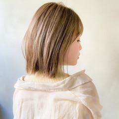 ボブ ナチュラル デート 大人かわいい ヘアスタイルや髪型の写真・画像