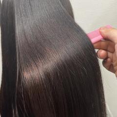 ロング 髪質改善トリートメント 髪質改善カラー 髪質改善 ヘアスタイルや髪型の写真・画像