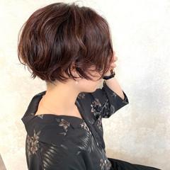 ストリート ショート パーマ ゆるふわパーマ ヘアスタイルや髪型の写真・画像