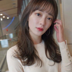 インナーカラー ロング ショートボブ 韓国ヘア ヘアスタイルや髪型の写真・画像