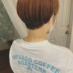 ハイライト ボーイッシュ 夏 ショートヘア ヘアスタイルや髪型の写真・画像