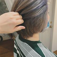 モード ショートボブ ボブ 白髪染め ヘアスタイルや髪型の写真・画像