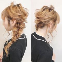 結婚式ヘアアレンジ セルフヘアアレンジ ナチュラル ヘアアレンジ ヘアスタイルや髪型の写真・画像