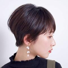 ショート ヘアアレンジ デート オフィス ヘアスタイルや髪型の写真・画像