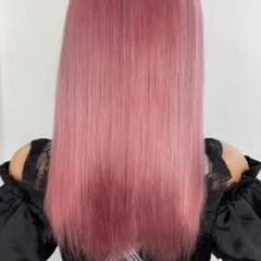 ピンクカラー ピンクヘア ガーリー 可愛い ヘアスタイルや髪型の写真・画像