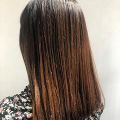 ロング 縮毛矯正 髪質改善 最新トリートメント ヘアスタイルや髪型の写真・画像