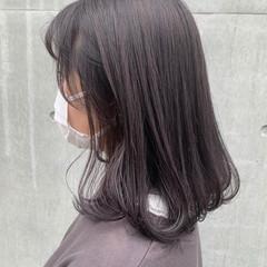 ナチュラル ラベンダーグレージュ 透明感カラー バイオレット ヘアスタイルや髪型の写真・画像