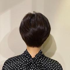 ハンサムショート 抜け感 アンニュイほつれヘア ノースタイリング ヘアスタイルや髪型の写真・画像