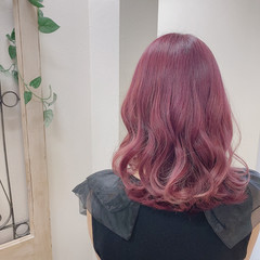 可愛い ピンクパープル ピンクアッシュ ピンク ヘアスタイルや髪型の写真・画像