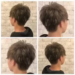 ストリート グラデーションカラー グレーアッシュ 大人ハイライト ヘアスタイルや髪型の写真・画像