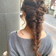 ヘアアレンジ 編み込み 簡単ヘアアレンジ 編み込みヘア ヘアスタイルや髪型の写真・画像