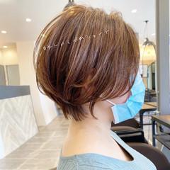 ミニボブ ベリーショート ナチュラル ショート ヘアスタイルや髪型の写真・画像