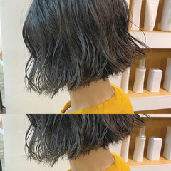 ナチュラル ボブ モテボブ 切りっぱなしボブ ヘアスタイルや髪型の写真・画像