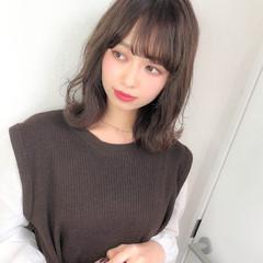 コンサバ ミディアム モテ髪 デート ヘアスタイルや髪型の写真・画像