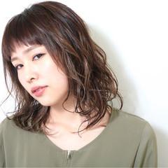 女子力 ウェーブ 外国人風 ハイライト ヘアスタイルや髪型の写真・画像