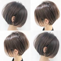 ナチュラル インナーカラー ショート ショートヘア ヘアスタイルや髪型の写真・画像