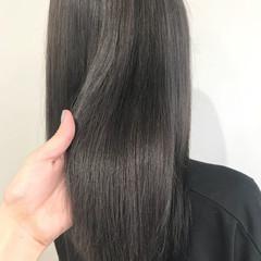 ロング 透明感 外国人風カラー アッシュグレー ヘアスタイルや髪型の写真・画像