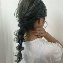 ヘアカラー エレガント 編みおろしヘア ヘアアレンジ ヘアスタイルや髪型の写真・画像