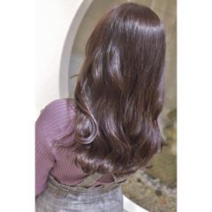 ラベンダーカラー エレガント 暗髪バイオレット ラベンダーピンク ヘアスタイルや髪型の写真・画像