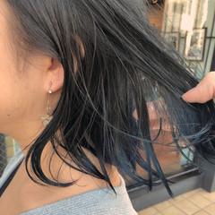 ボブ ワンレン カジュアル 裾カラー ヘアスタイルや髪型の写真・画像