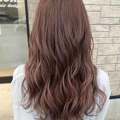 ミルクティーブラウン ピンクラベンダー ピンクブラウン 秋ブラウン ヘアスタイルや髪型の写真・画像