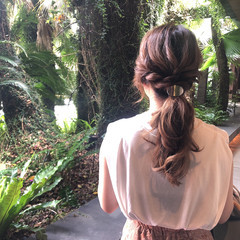 ロング 結婚式ヘアアレンジ ふわふわヘアアレンジ ヘアアレンジ ヘアスタイルや髪型の写真・画像