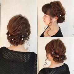ルーズ アップスタイル ロング フェミニン ヘアスタイルや髪型の写真・画像