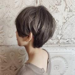 ショート ハンサムショート フェミニン 3Dハイライト ヘアスタイルや髪型の写真・画像