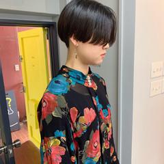 ショート 黒髪ショート 黒髪 刈り上げ ヘアスタイルや髪型の写真・画像