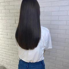 アッシュブラウン 暗髪 アッシュ ナチュラル ヘアスタイルや髪型の写真・画像