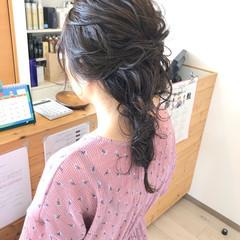 エレガント 簡単ヘアアレンジ 編み込みヘア 編みおろしヘア ヘアスタイルや髪型の写真・画像