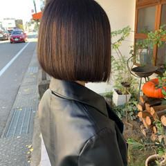 モード 切りっぱなしボブ ミニボブ ボブ ヘアスタイルや髪型の写真・画像
