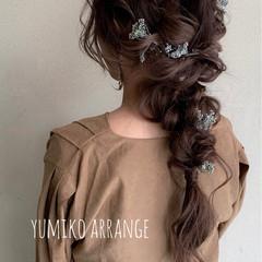 ヘアアレンジ 簡単ヘアアレンジ ナチュラル 大人かわいい ヘアスタイルや髪型の写真・画像