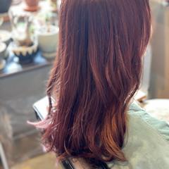 イヤリングカラー 大人かわいい 大人女子 セミロング ヘアスタイルや髪型の写真・画像