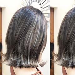 グラデーションカラー ハイライト インナーカラー バレイヤージュ ヘアスタイルや髪型の写真・画像
