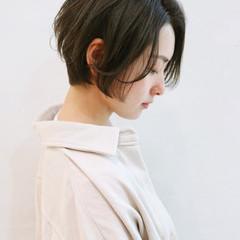 ショートボブ ショートヘア アッシュ ショート ヘアスタイルや髪型の写真・画像